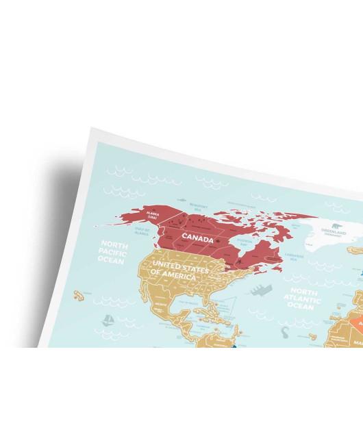 Travel Map скретч карта Харьков