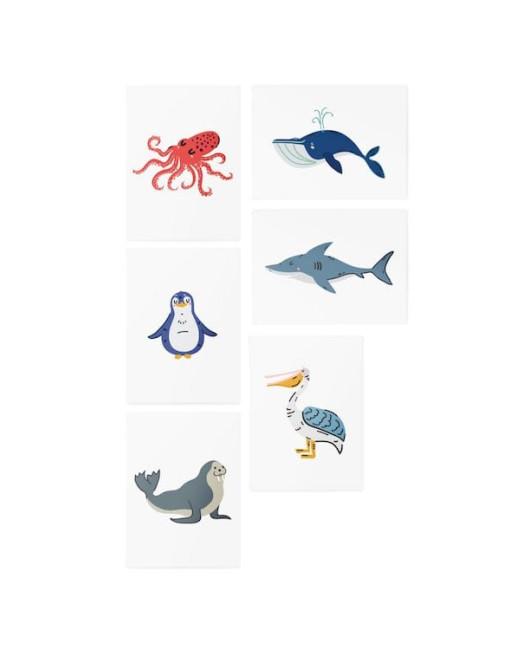 Тату для детей Ocean animals set Харьков