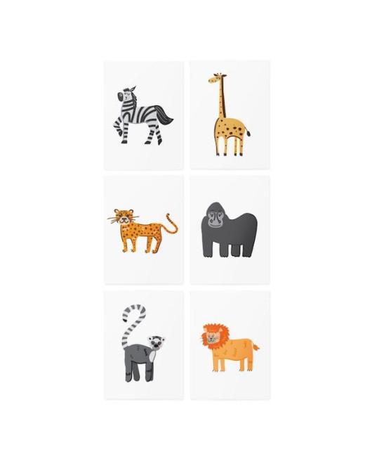 Тату с животными African animals set Харьков