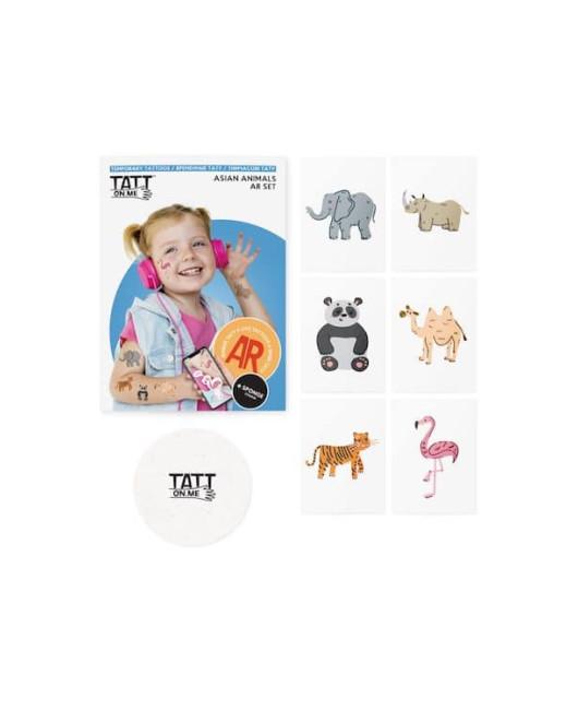 Тату для детей AR Asian animals set Харьков