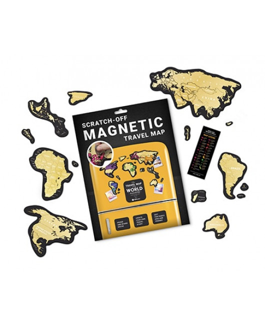 Скретч Карта Мира Travel Map MAGNETIC World