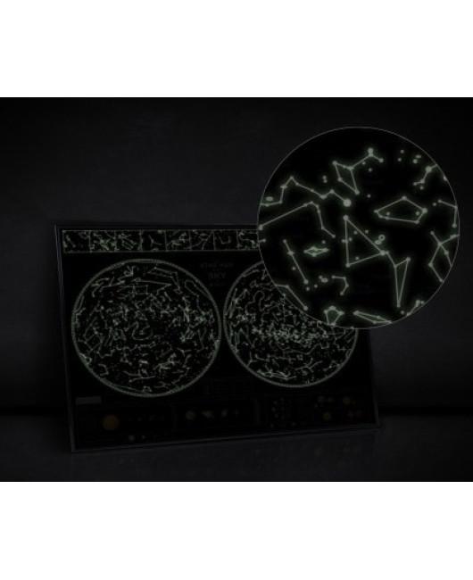 Светящаяся карта звезного неба