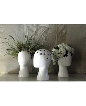 Цветочная ваза-голова