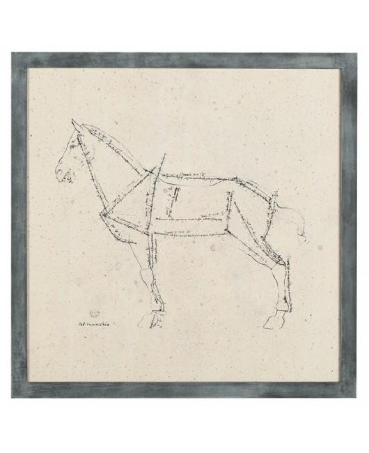 Гравюра Лошадь
