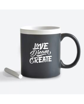 Чашка с мелом Love