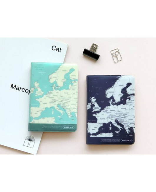 Обложка на паспорт карта мира