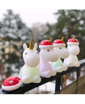 Ночник Единорог новогодний