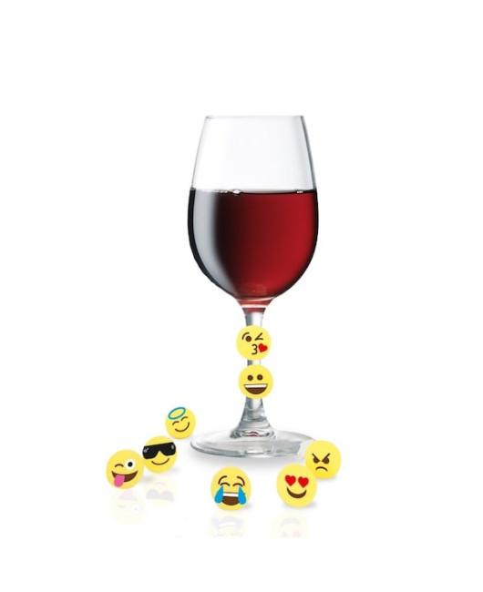 Метки для бокалов Vin bouquet emoji купить