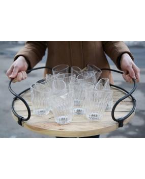 Пьяный стакан граненный