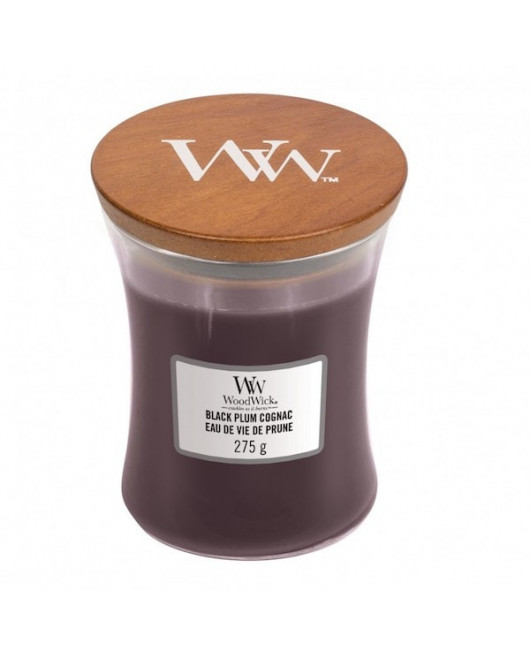 Cвеча WoodWick Black Plum Cognac купить