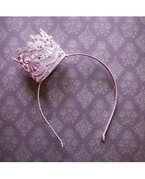 Корона кружевная розовая