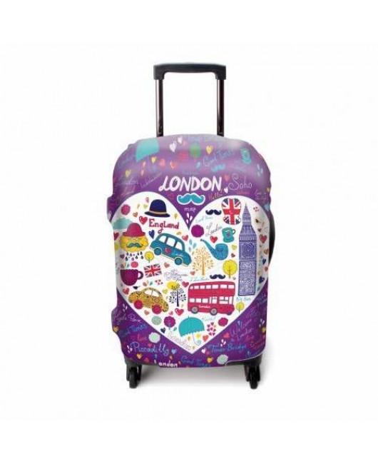 Чехол для чемодана фиолетовый