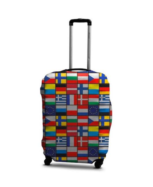 Чехол для чемодана флаги