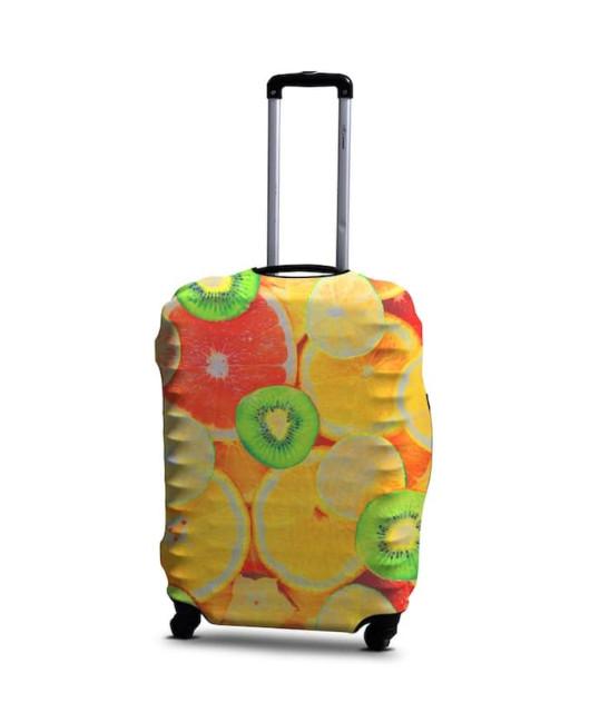Чехол для чемодана с рисунком фрукты Харьков