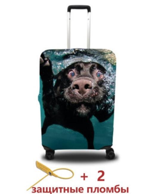 Чехол для чемодана с собакой