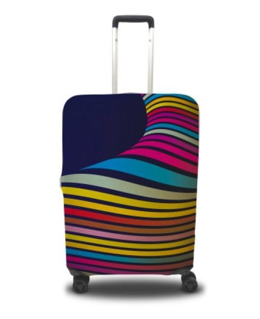 Чехол на чемодан в полоску