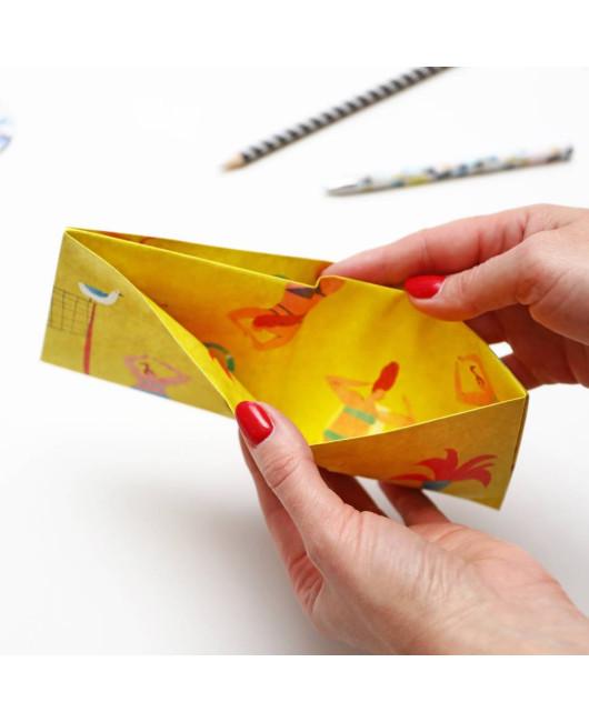 Бумажный кошелек желтый