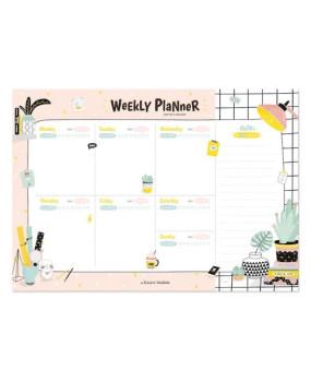 Настольный планер Weekly planner Pink