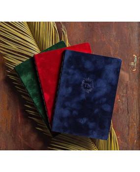 Бархатный блокнот - разные цвета