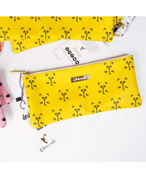 Косметичка/пенал Cats - yellow