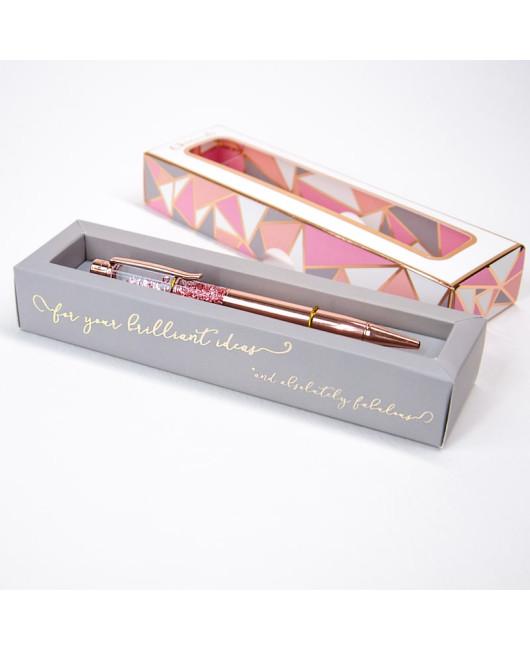 Красивая ручка с блестками купить