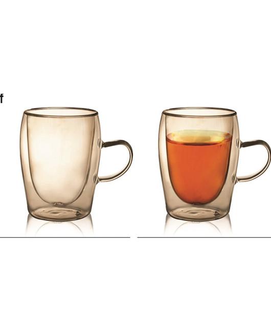 Набор стаканов с двойными стенками