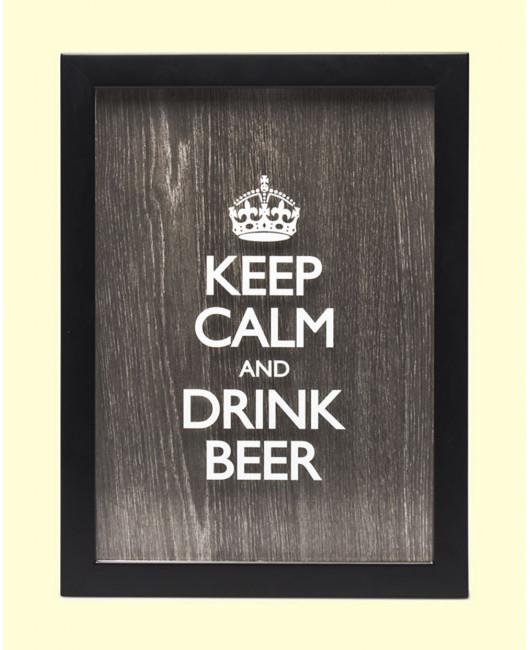 Копилка для пивных пробок Keep Calm and drink beer