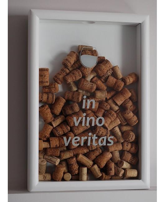 Копилка для винных пробок белая