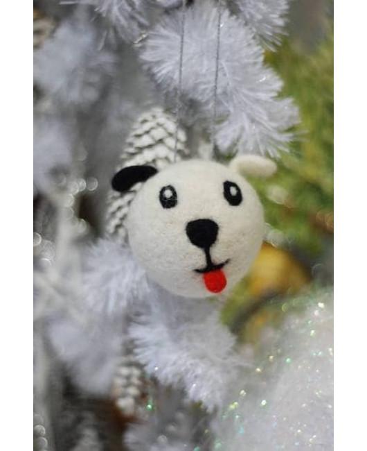 Собака игрушка на елку