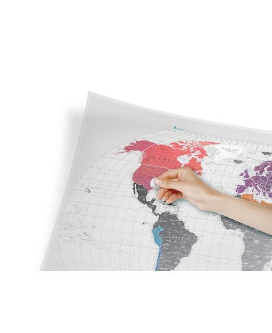 Прозрачная скретч-карта мира Харьков