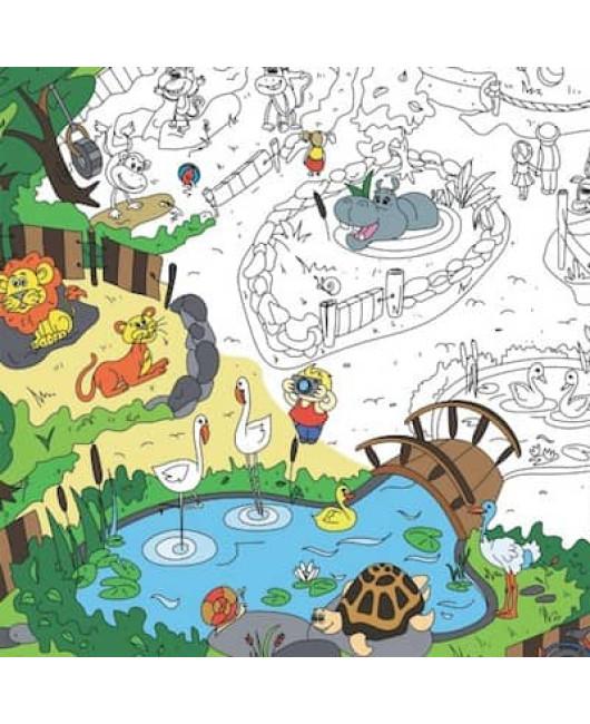 Раскраска большого размера Зоопарк