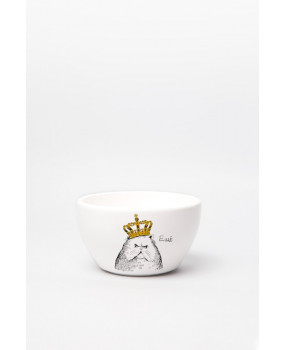 Глубокая тарелка «Кот в короне»