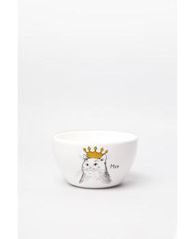 Глубокая тарелка «Кошка в короне»