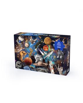 Пазл «Котики в открытом космосе» 500 элементов