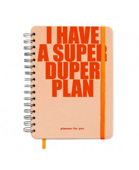 "Большой планер ""I have a SUPER DUPER plan"" peachy"