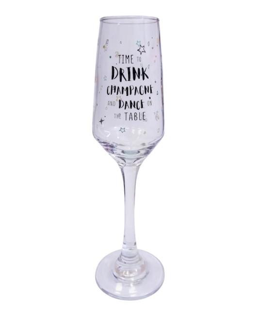 Бокал для шампанского с надписью