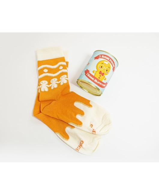 Новогодние носки Пряник консерва купить