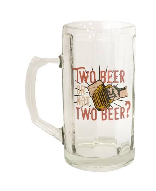 Бокал для пива с надписью Two beer or not купить