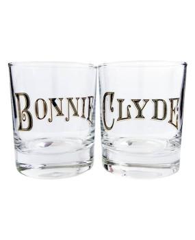 "Набор бокалов для виски ""Bonnie и Clyde"""