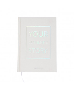 Блокнот с голографическими торцами Your authentic story