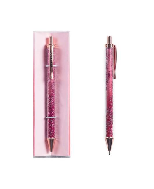 Ручка розовая с блестками Red stars купить