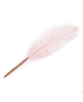 """Оригинальная ручка с розовым пером """"Feather"""""""
