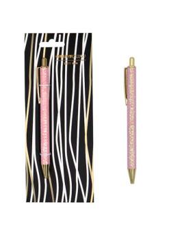 """Ручка-автомат с блестками """"Pink sequins"""""""