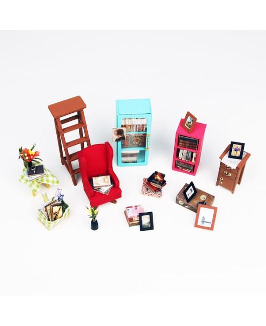 Кукольный дом-миниатюра Библиотека Robotime Украина