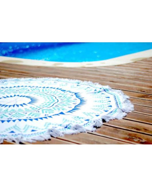 Круглый коврик-полотенце