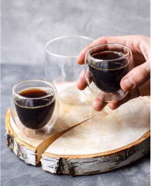 Чашка для эспрессо прозрачная