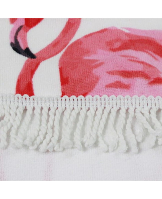 Круглое пляжное полотенце с фламинго купить