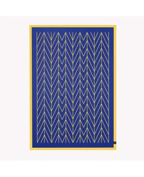 Плед BØLGE – сине-желтый